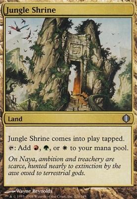 Shards of Alara Foil: Jungle Shrine