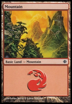 Shards of Alara: Mountain (245 D)