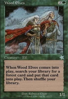 MTG 1x Wood Elves-Starter 99 SL *