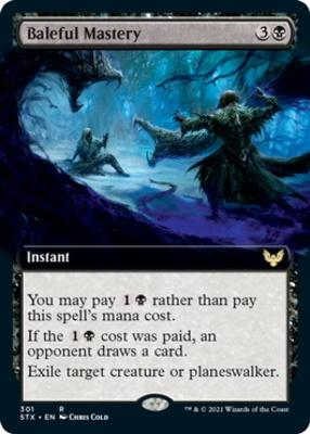 Strixhaven: School of Mages Variants: Baleful Mastery (Extended Art)