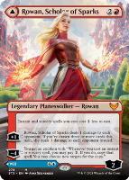 Strixhaven: School of Mages Variants: Rowan, Scholar of Sparks (Borderless)