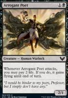 Strixhaven: School of Mages Foil: Arrogant Poet