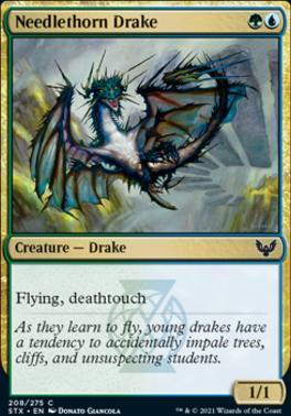 Strixhaven: School of Mages Foil: Needlethorn Drake