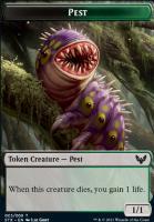 Strixhaven: School of Mages Foil: Pest Token