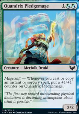 Strixhaven: School of Mages Foil: Quandrix Pledgemage
