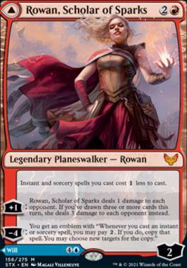 Strixhaven: School of Mages: Rowan, Scholar of Sparks