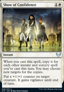 Strixhaven: School of Mages Foil: Show of Confidence