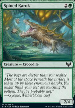 Strixhaven: School of Mages: Spined Karok
