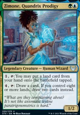Strixhaven: School of Mages Foil: Zimone, Quandrix Prodigy