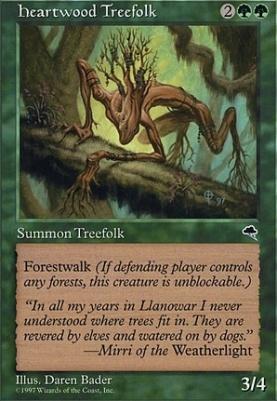 Tempest: Heartwood Treefolk