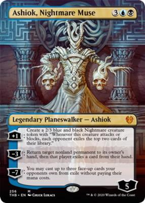 Theros Beyond Death Variants: Ashiok, Nightmare Muse (Borderless)