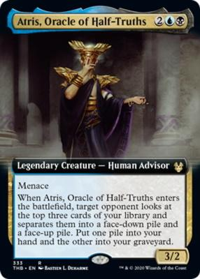 Theros Beyond Death Variants: Atris, Oracle of Half-Truths (Extended Art)