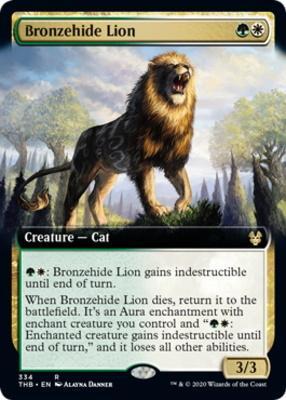 Theros Beyond Death Variants: Bronzehide Lion (Extended Art)