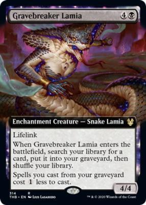 Theros Beyond Death Variants: Gravebreaker Lamia (Extended Art)