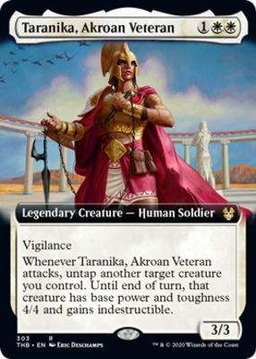 Theros Beyond Death Variants: Taranika, Akroan Veteran (Extended Art)