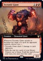 Theros Beyond Death Variants: Tectonic Giant (Extended Art)