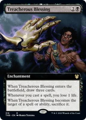 Theros Beyond Death Variants: Treacherous Blessing (Extended Art)