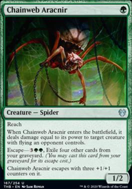 Theros Beyond Death Foil: Chainweb Aracnir