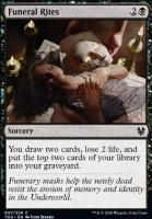 Theros Beyond Death Foil: Funeral Rites