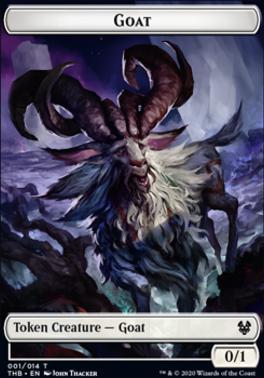 Theros Beyond Death Foil: Goat Token