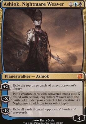 Theros Foil: Ashiok, Nightmare Weaver