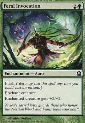 Theros Foil: Feral Invocation