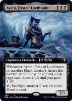Throne of Eldraine Variants Foil: Ayara, First of Locthwain (Extended Art)