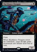 Throne of Eldraine Variants: Blacklance Paragon (Extended Art)