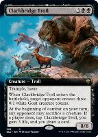 Throne of Eldraine Variants: Clackbridge Troll (Extended Art)