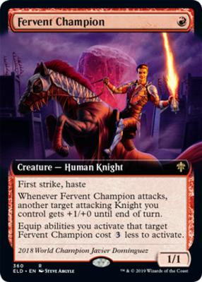 Throne of Eldraine Variants: Fervent Champion (Extended Art)