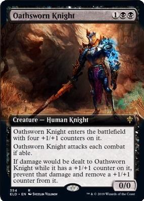 Throne of Eldraine Variants: Oathsworn Knight (Extended Art)