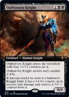 Throne of Eldraine Variants: Oathsworn Knight (Extended Art)