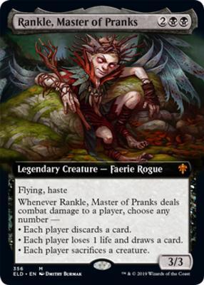 Throne of Eldraine Variants: Rankle, Master of Pranks (Extended Art)