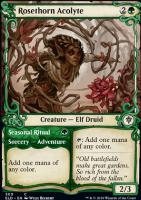 Throne of Eldraine Variants: Rosethorn Acolyte (Showcase)