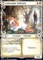 Throne of Eldraine Variants: Lonesome Unicorn (Showcase)