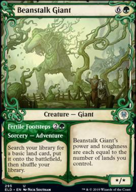 Magic: The Gathering Throne of Eldraine Beanstalk Giant Showcase