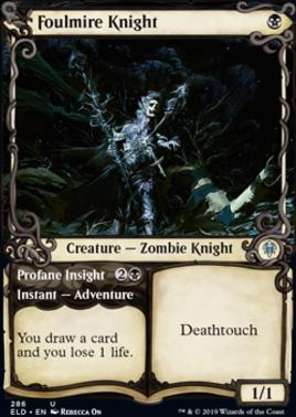 Throne of Eldraine Variants: Foulmire Knight (Showcase)
