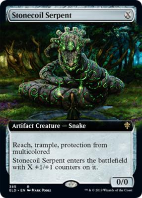 Throne of Eldraine Variants: Stonecoil Serpent (Extended Art)