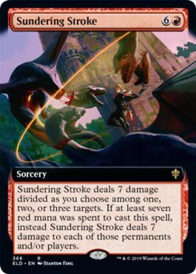 Throne of Eldraine Variants: Sundering Stroke (Extended Art)