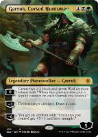 Throne of Eldraine Variants: Garruk, Cursed Huntsman (Borderless)