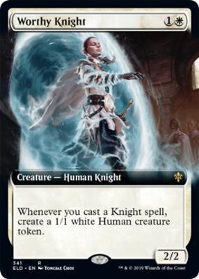 Throne of Eldraine Variants: Worthy Knight (Extended Art)
