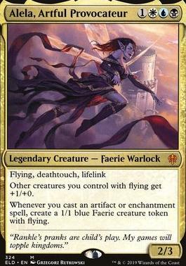 Throne of Eldraine Foil: Alela, Artful Provocateur (Brawl Deck Card)