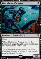 Throne of Eldraine Foil: Blacklance Paragon