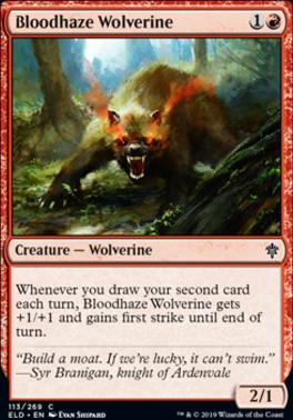 Throne of Eldraine: Bloodhaze Wolverine
