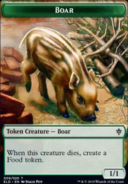 Throne of Eldraine Foil: Boar Token