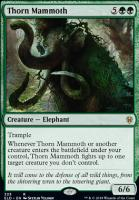 Throne of Eldraine: Thorn Mammoth (Brawl Deck Card)