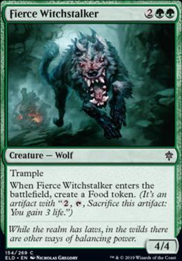 Fierce Witchstalker Magic MTG Throne of Eldraine Foil