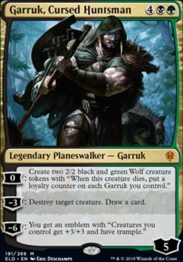 Throne of Eldraine: Garruk, Cursed Huntsman