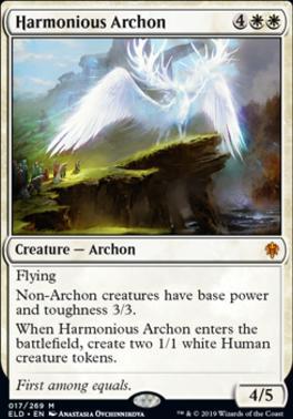 Throne of Eldraine Foil: Harmonious Archon