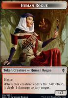 Throne of Eldraine Foil: Human Rogue Token